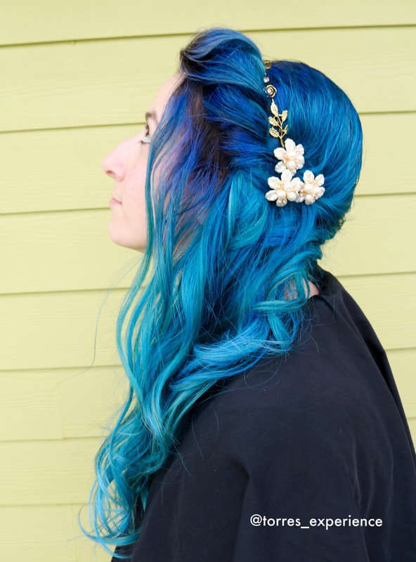 turquoise wedding hair